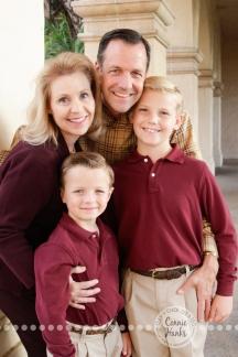 Connie Hanks Photography // ClickyChickCreates.com // Family of four, photo session, sons, parents, Balboa park, boys