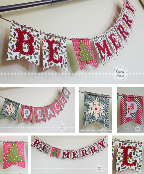 Connie Hanks Photography // ClickyChickCreates.com // Christmas craft, banners, gift tags, Peace, Noel, Joy, Be Merry, Believe, Merry Christmas, Be Merry, handmade, Etsy