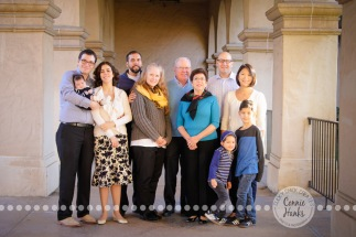 Connie Hanks Photography // ClickyChickCreates.com // Multi-generation family photo session at Balboa Park, San Diego, CA