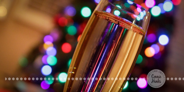 Connie Hanks Photography // ClickyChickCreates.com // Champagne Christmas
