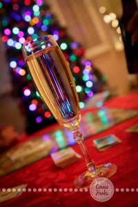 Connie Hanks Photography // ClickyChickCreates.com // Champagne Christmas