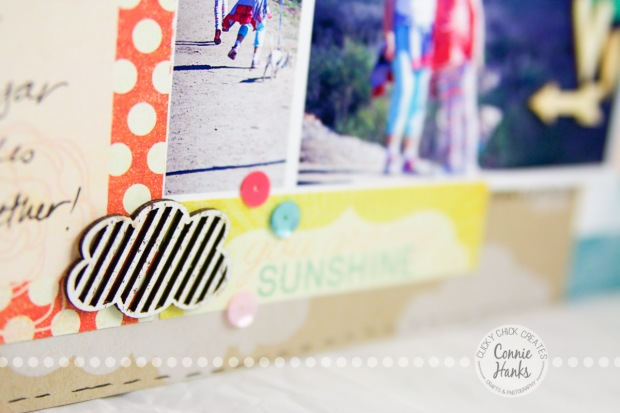 Connie Hanks Photography // ClickyChickCreates.com // Family Resolutions, goals, scrapbooking, layout, clouds, hiking