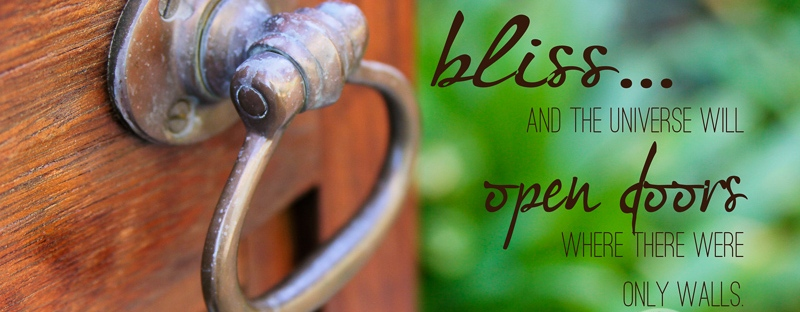 Connie Hanks Photography // ClickyChickCreates.com // Open Door quote - Follow your bliss and the universe will open doors where there were only walls