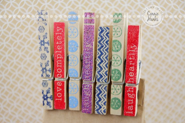 Connie Hanks Photography // ClickyChickCreates.com // Hand Embossed Clothes Pins