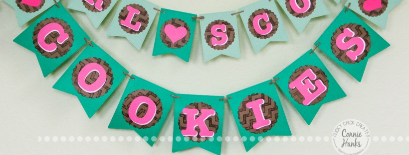 Connie Hanks Photography // ClickyChickCreates.com // Girl Scout Cookies banner, perfect for booth sales!