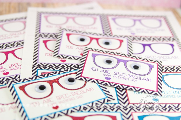 Connie Hanks Photography // ClickyChickCreates.com // You are SPEC-tacular Valentine's Day card printable PDF, Etsy, glasses, spectacular, googly eyes, chevron, spectacles,