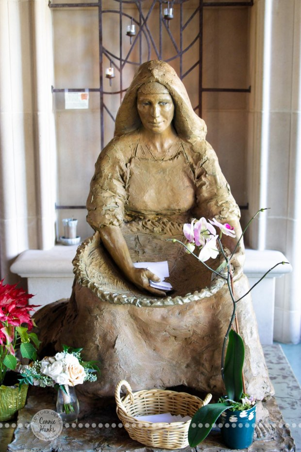 Connie Hanks Photography // ClickyChickCreates.com // calm, serene, blissful, photos at church, statue, details