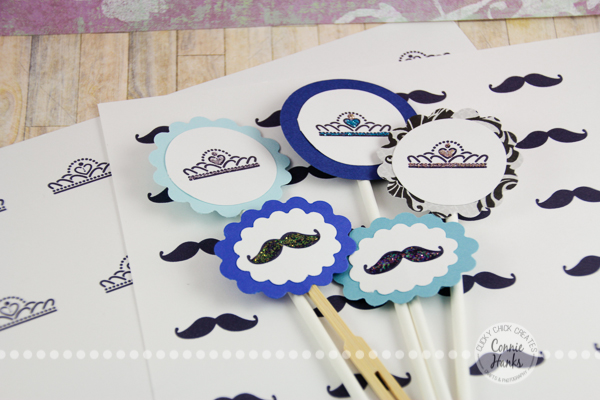 Connie Hanks Photography // ClickyChickCreates.com // PRINTABLES on Etsy, mustache, tiara, cupcake toppers, easy, simple, DIY, father-daughter dance, ball, party