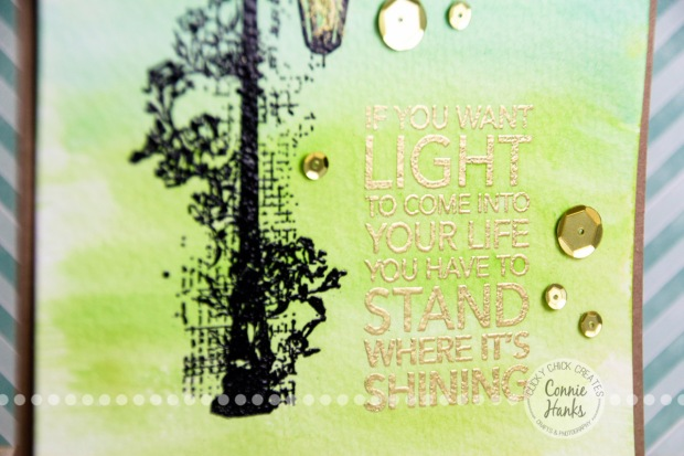 Connie Hanks Photography // ClickyChickCreates.com // watercolor card on Etsy, lamppost, light, shining, easy, simple, DIY