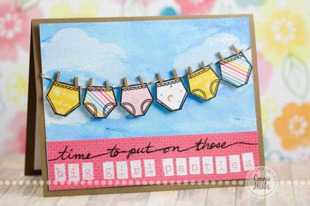 Connie Hanks Photography // ClickyChickCreates.com // Time to put on those BIG GIRL PANTIES card, designed for Sweet Stamp Shop