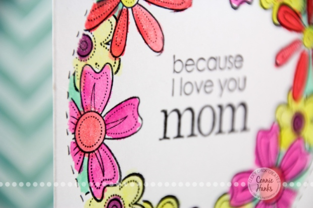 Connie Hanks Photography // ClickyChickCreates.com // One-Layer Mother's Day card, simple stamping and watercoloring