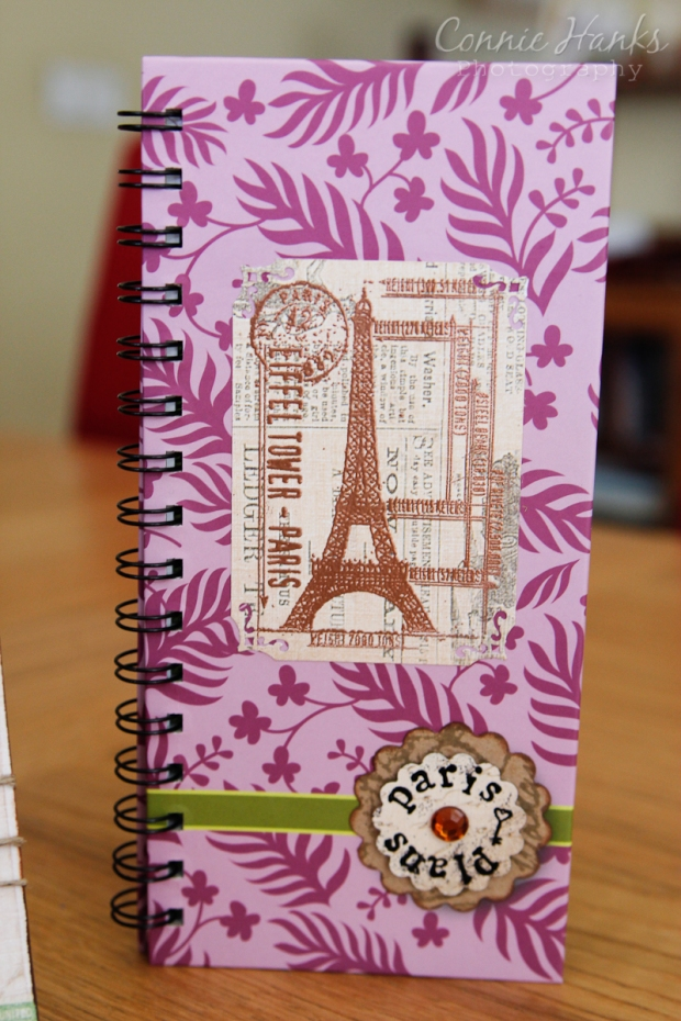 Connie Hanks Photography // ClickyChickCreates.com // altered journal for Paris plans trip