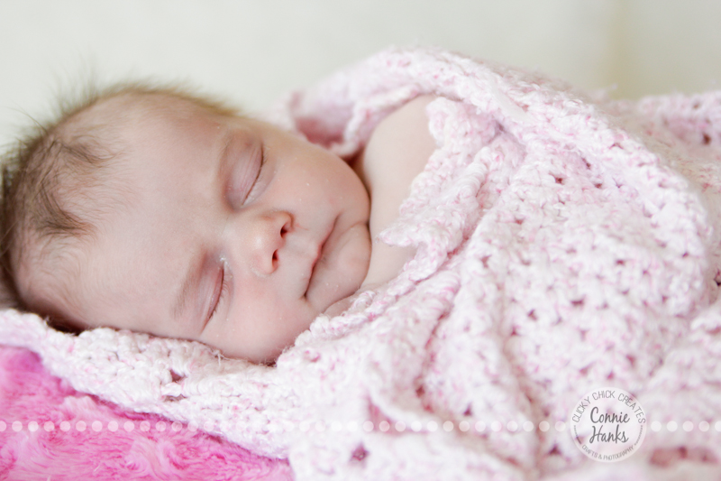 Connie Hanks Photography // ClickyChickCreates.com // baby girl newborn photo session - sleeping baby