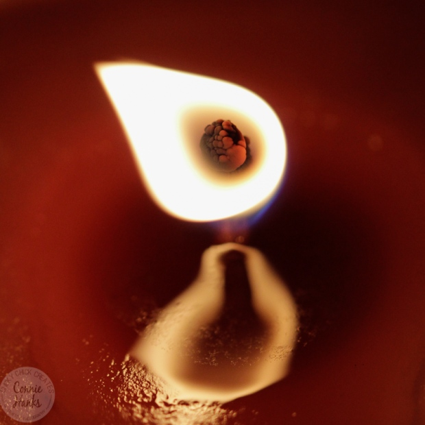 Connie Hanks Photography // ClickyChickCreates.com // macro photograph of candle flame and wick