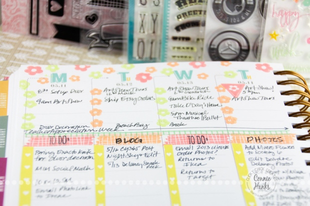 Connie Hanks Photography // ClickyChickCreates.com // #planneraddict, #plannerlove, paper, planner, organization, tips, strategies, customizing, Inkwell Press Planner, plan with me
