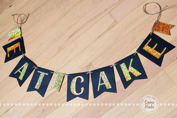 Connie Hanks Photography // ClickyChickCreates.com // wedding, bridal shower, bachelorette, party banners for sale on Etsy, eat cake, dessert table