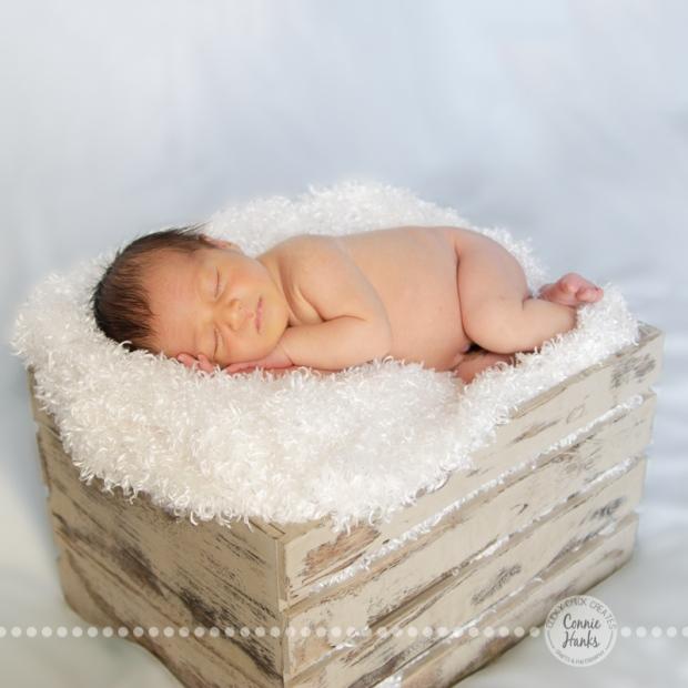 Connie Hanks Photography // ClickyChickCreates.com // baby boy newborn photo session - sleeping baby