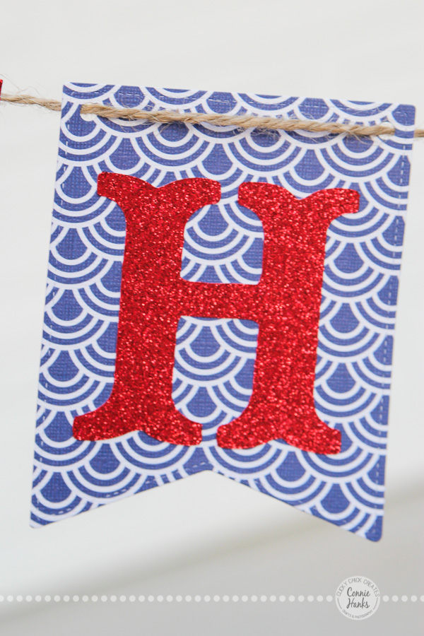 Connie Hanks Photography // ClickyChickCreates.com // Fourth of July banners available on Etsy, Happy 4th, Freedom, red, white and blue, glitter, glam
