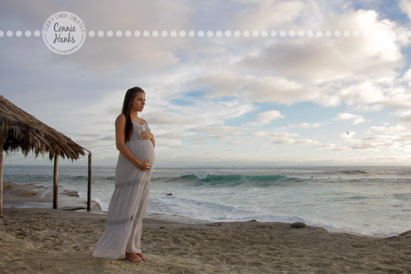Connie Hanks Photography // ClickyChickCreates.com // San Diego maternity photo session , beach maternity photos,