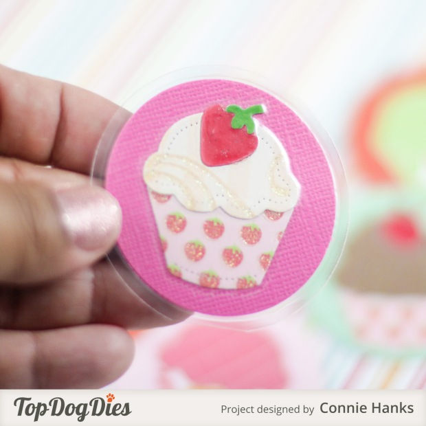 Connie Hanks Photography // ClickyChickCreates.com // Cupcake love notes using Top Dog Dies, perfect lunch box love notes!
