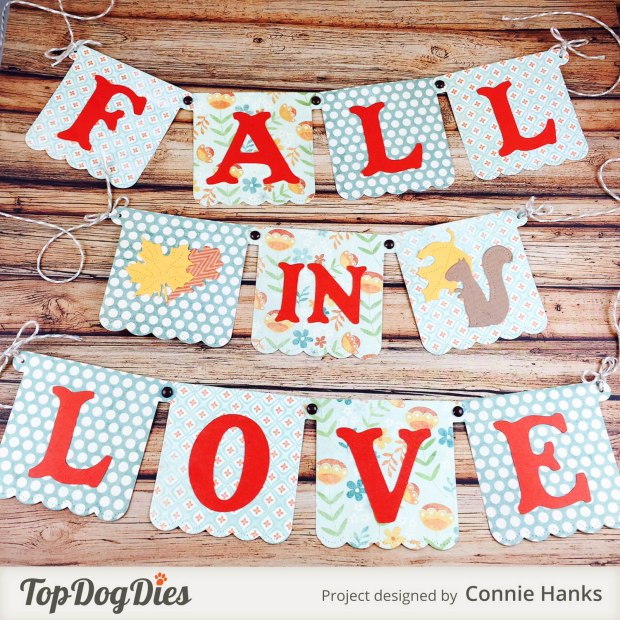 Connie Hanks Photography // ClickyChickCreates.com // Fall in Love banner using Top Dog Dies,