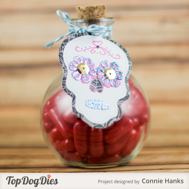 Connie Hanks Photography // ClickyChickCreates.com // Sugar Skulls gift tag using Top Dog Dies,