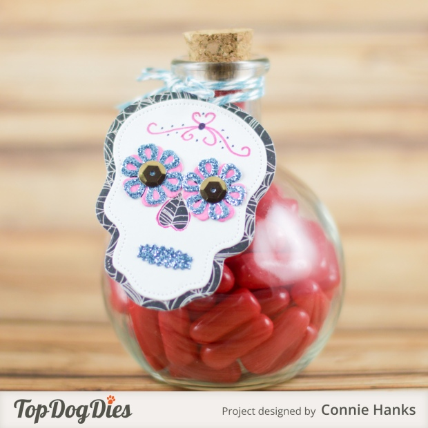 Connie Hanks Photography // ClickyChickCreates.com // Sugar Skulls gift tag using Top Dog Dies,