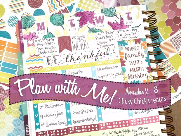 Connie Hanks Photography // ClickyChickCreates.com // Plan with Me video, inkwell press, Clicky Chick Creates stickers, etsy seller, planner, planner stickers