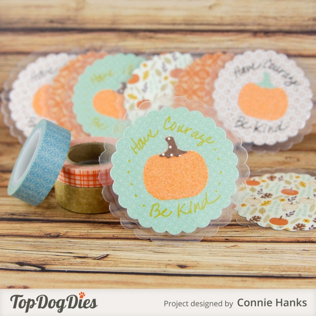 Connie Hanks Photography // ClickyChickCreates.com // Pumpkin love notes, have courage and be kind, quote, inspirational, Cinderella, Top Dog Dies