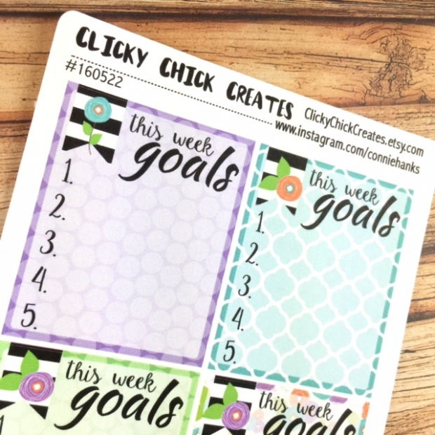 ClickyChickCreates.etsy.com // planner stickers