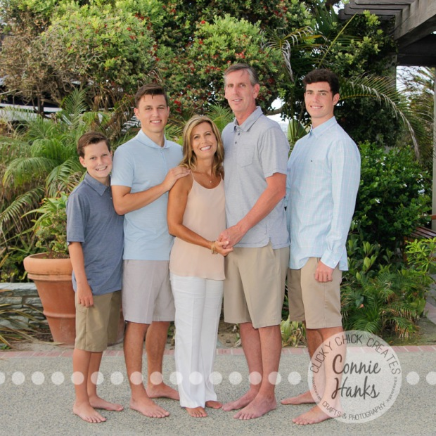 Connie Hanks Photography // ClickyChickCreates.com // family beach photos, San Diego family photography, family photo session, family photography, beach photography, brothers, sons, siblings, silhouette