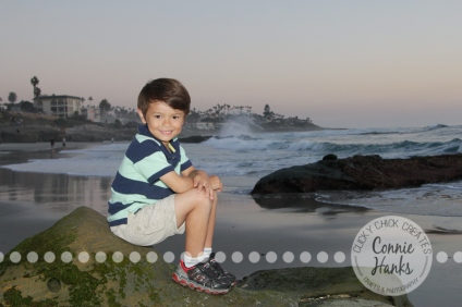 Connie Hanks Photography // ClickyChickCreates.com // family photos, San Diego family photography, family photo session, beach photography, beach sunset photography