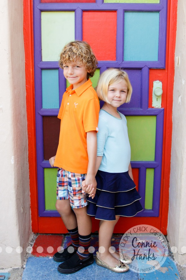 Connie Hanks Photography // ClickyChickCreates.com // family photos, San Diego family photography, family photo session, family photography, colorful doors, Spanish Village, Balboa Park