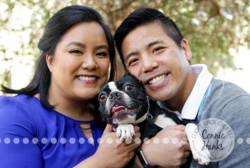 Connie Hanks Photography // ClickyChickCreates.com // family photos, San Diego family photography, family & pet photo session, rustic park photography, pet photography