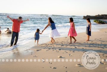 Connie Hanks Photography // ClickyChickCreates.com // family photos, San Diego family photography, sibling photos, beach photography, beach sunset photography, silhouettes