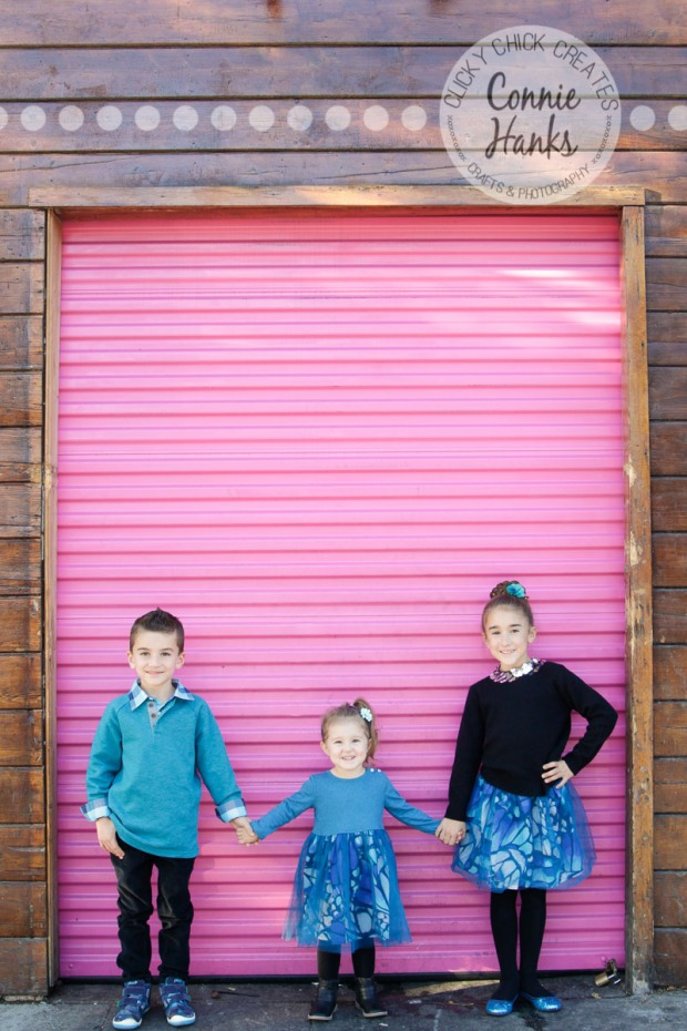 Connie Hanks Photography // ClickyChickCreates.com // family photos, San Diego family photography, family photo session, family photography, siblings, colorful doors, Little Italy, urban landscape, cityscape
