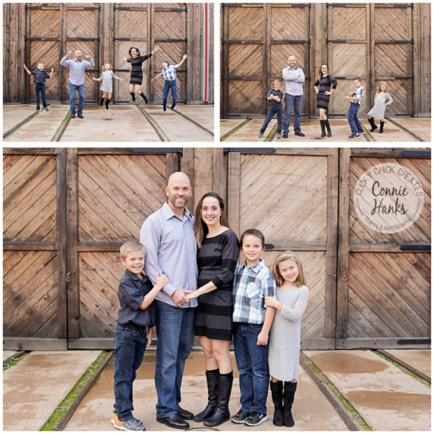 Connie Hanks Photography // ClickyChickCreates.com // family photos, San Diego family photography, multi-generation family photo session, extended family photography, siblings, rustic, Old Poway Park, barn doors