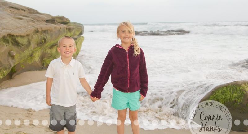 Connie Hanks Photography // ClickyChickCreates.com // family photos, San Diego family photography, family photo session, family photography, siblings, Windansea beach, La Jolla, CA