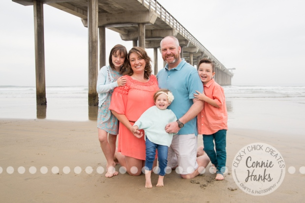 Connie Hanks Photography // ClickyChickCreates.com // multi-generation family photos, San Diego family photography, family photo session, siblings, La Jolla Shores, Scripps Pier