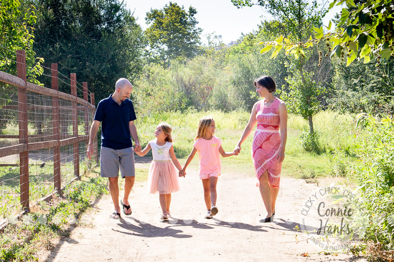 Connie Hanks Photography // ClickyChickCreates.com // family photos, San Diego family photography, family photo session, sibling photo session, rustic, Los Penasquitos Canyon Preserve, rustic, canyon, woodlands, trees, green