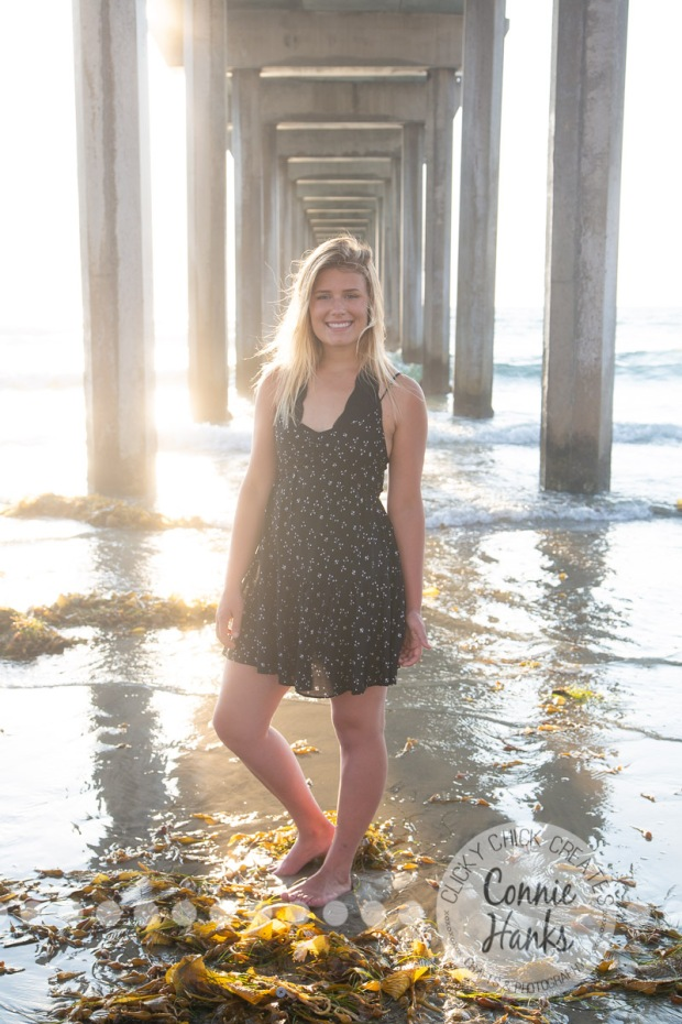 Connie Hanks Photography // ClickyChickCreates.com // La Jolla senior portraits, San Diego senior portraits, beach photo session, La Jolla, Scripps Pier