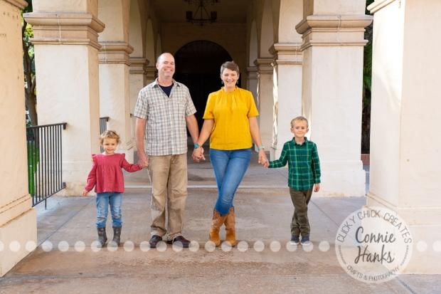 Connie Hanks Photography // ClickyChickCreates.com // family photos, San Diego family photography, family photo session, sibling photo session, Balboa Park, Spanish Village